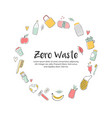 zero waste hand drawn with eco icons vector image vector image