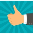 Hand with thumb in flat design style vector image