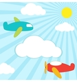planes background vector image