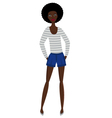 Afrowoman street style vector image