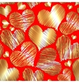 abstract love heart seamless background for vector image