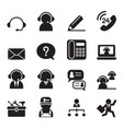 customer service and support icon set vector image