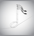 3d note on a wire vector image vector image