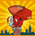 american football ball santa claus with gifts vector image vector image
