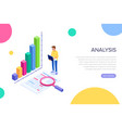 analysis concept for web page banner vector image