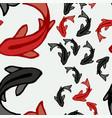 asian koi fish pond seamless pattern art vector image vector image