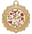Autumn label vector image