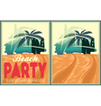 Beach party poster collection vector image vector image