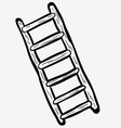 black and white freehand drawn cartoon ladder vector image