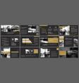 black gold presentation templates