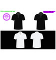 blank black and white t-shirt set template vector image