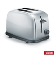 Bright Metal toaster isolated on white vector image vector image