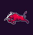 bull sport logo vector image