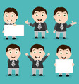 businessman characters vector image vector image