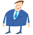 businessman or boss cartoon character vector image vector image