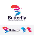 butterfly entertainment logo design vector image vector image
