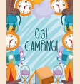 camping vacations travel activity adventure poster vector image