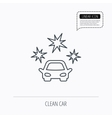 Clean car icon Cleaning wash station sign vector image vector image