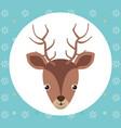 cute reindeer head tender character vector image