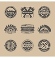Forest product vintage isolated label set vector image