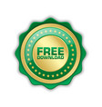 free download icon or badge suitable for custom vector image