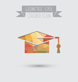 graduate hat Education sign symbol icon college or vector image vector image