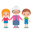 Grandmother and grandchildren a boy and girl vector image vector image