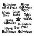 halloween phrases handdrawn lettering design vector image vector image