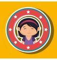 icon cartoon child happy vector image vector image
