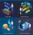 industrial augmented reality concept vector image vector image