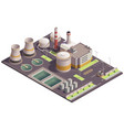 Isometric industrial site composition