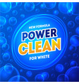 laundry detergent package card poster vector image