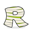 Letter R Monster zombie Alphabetical icon medical vector image vector image
