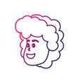 line avatar woman face with hairstyle design vector image vector image