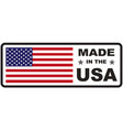 made in usa flag vector image vector image
