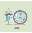 man controls the time vector image vector image