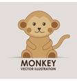 monkey cute vector image vector image