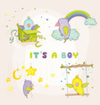 newborn cute parrot set for bashower cards vector image