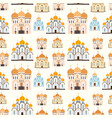 orthodox churches seamless pattern background vector image vector image