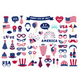 photobooth usa patriotic props celebration vector image vector image