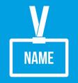 Plastic name badge with neck strap icon white