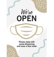 poster for opening business after vector image vector image