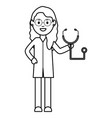 professional female doctor with stethoscope vector image