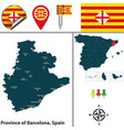 province of barcelona spain vector image vector image