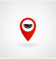 red location icon for greengrocer eps file vector image