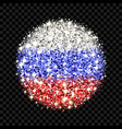 russia flag sparkling badge vector image vector image
