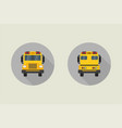 school bus icon in flat style vector image vector image