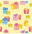 seamless pattern colorful party presents and vector image