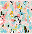 seamless repeating pattern with floral elements in vector image vector image
