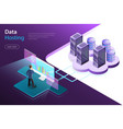 server hosting flat isometric concept vector image vector image